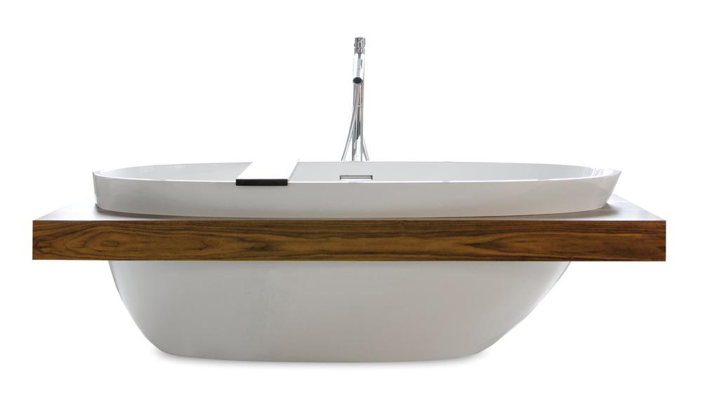WETMAR BiO Soaking Tub With Wood Shelf