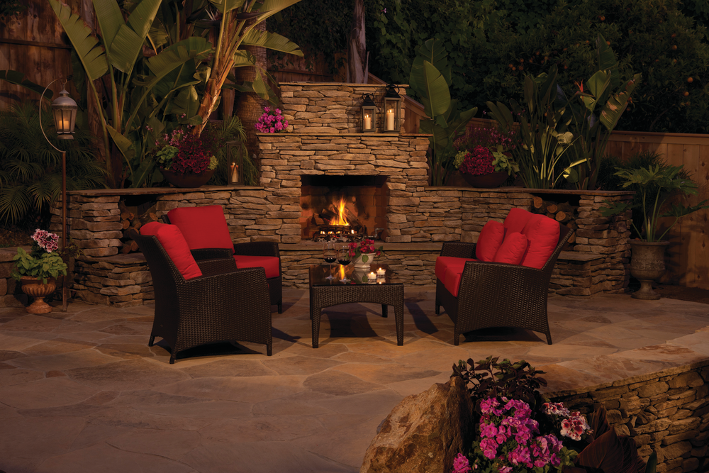 eldorado outdoor wood burning fireplace for residential pros