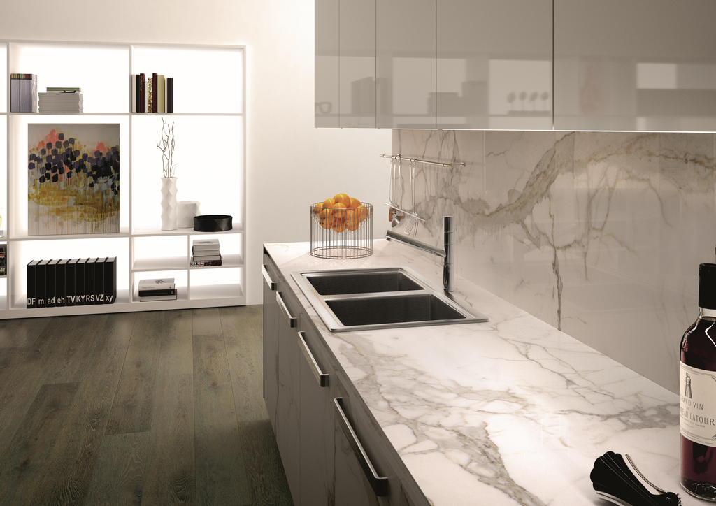 Porcelain countertops offer new design options kitchen for Kitchen ideas with porcelain countertops
