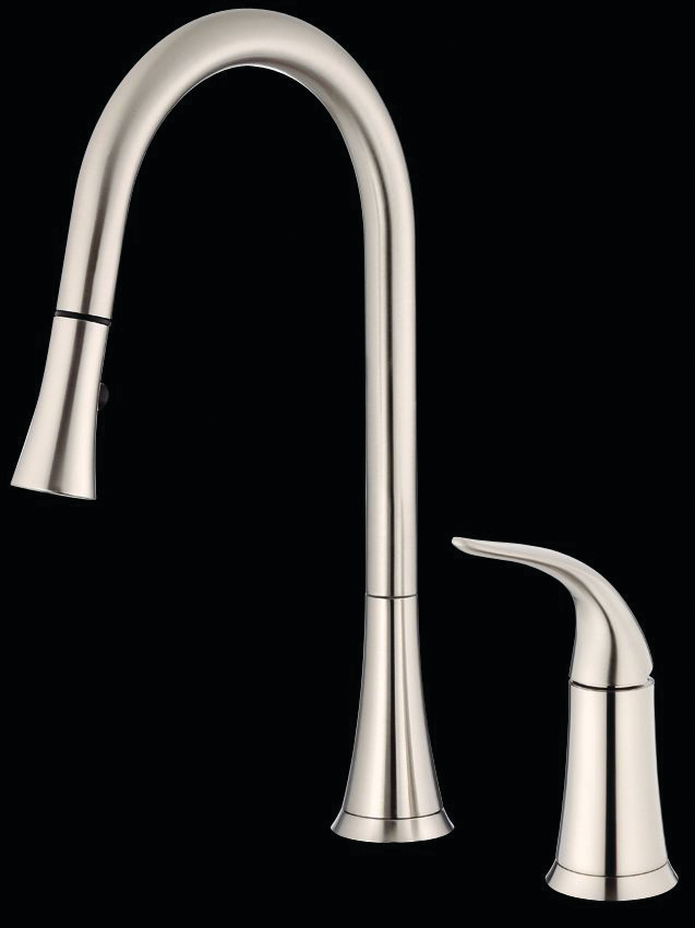 Antioch pull down two hole kitchen faucet for for Danze inc