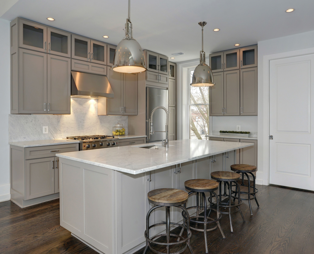 Gray kitchen cabinets for residential pro for Brighton kitchen cabinets