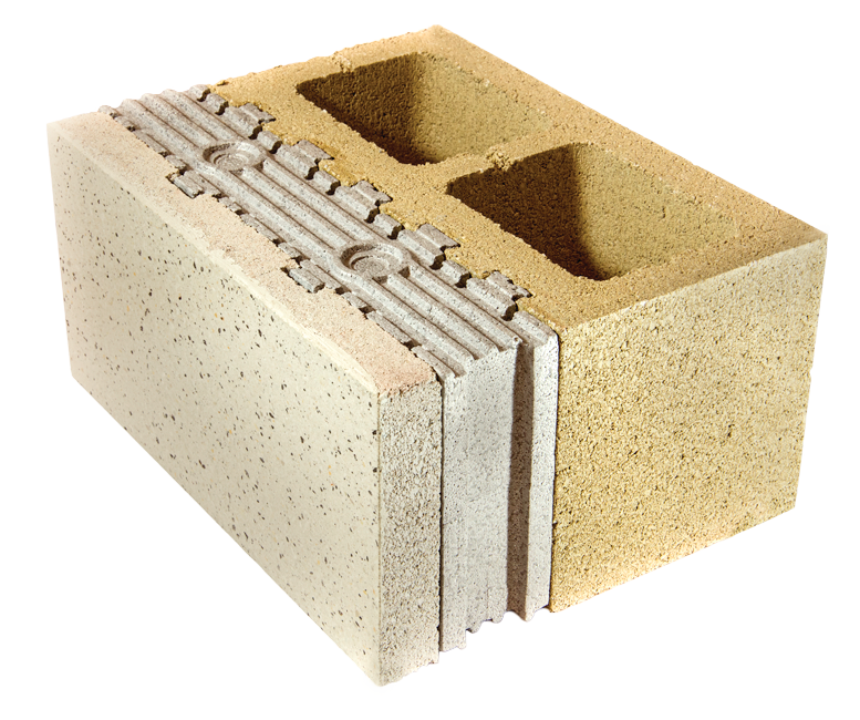 Insulated concrete masonry unit for residential pro for Insulated concrete masonry units