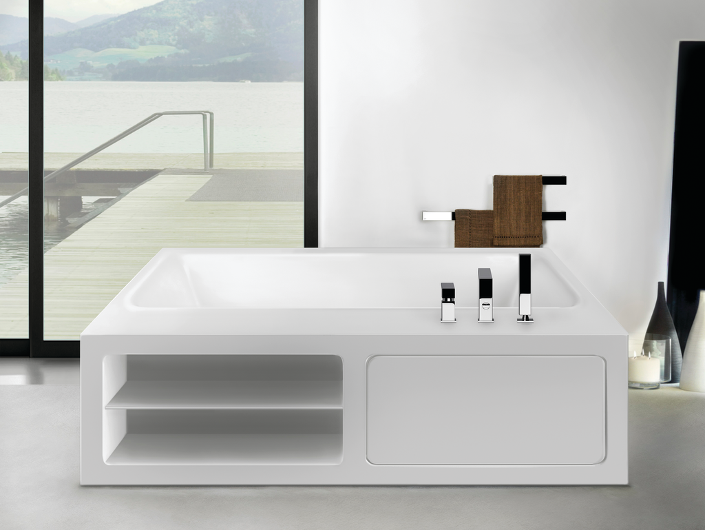 Rettangolo Solid Surface Bathtubs   For Residential Pro