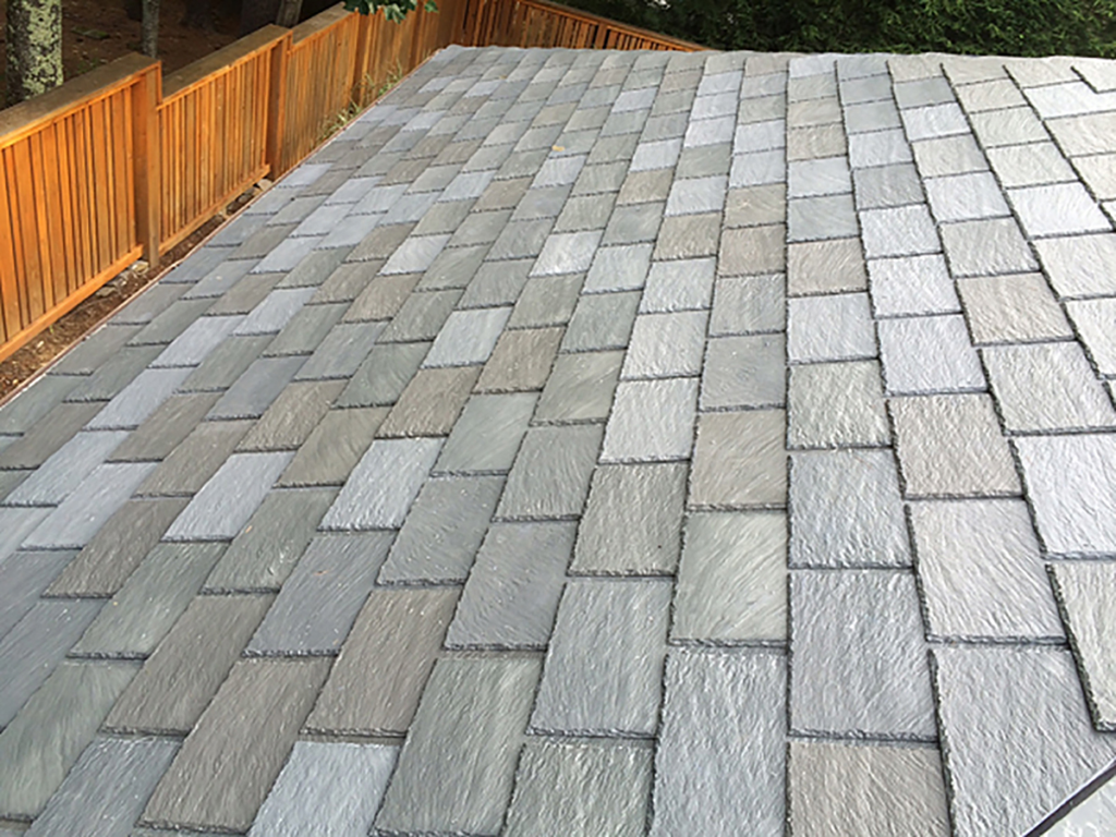 Engineered slate roofing for residential pros for Fiber cement composite roofing slate style