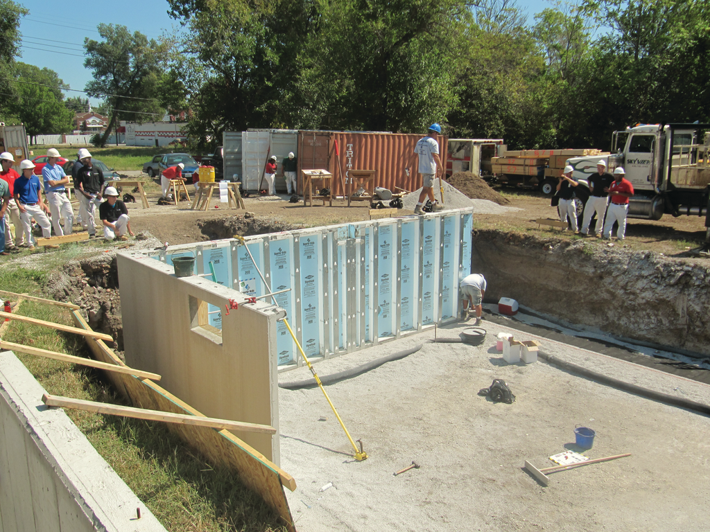 Precast custom concrete foundation for residential pros for Poured wall foundation