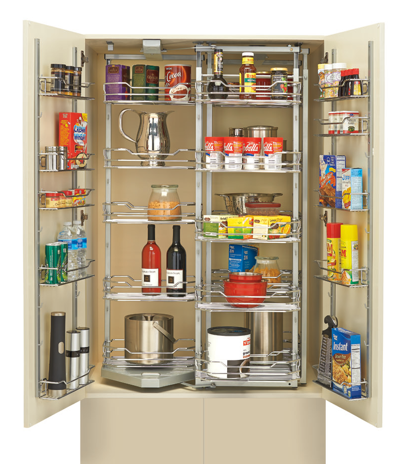 Pantry Shelves Starter Kit: Roll-Out Pantry Storage