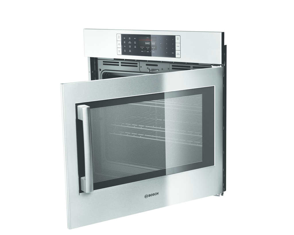 single wall oven with side opening door