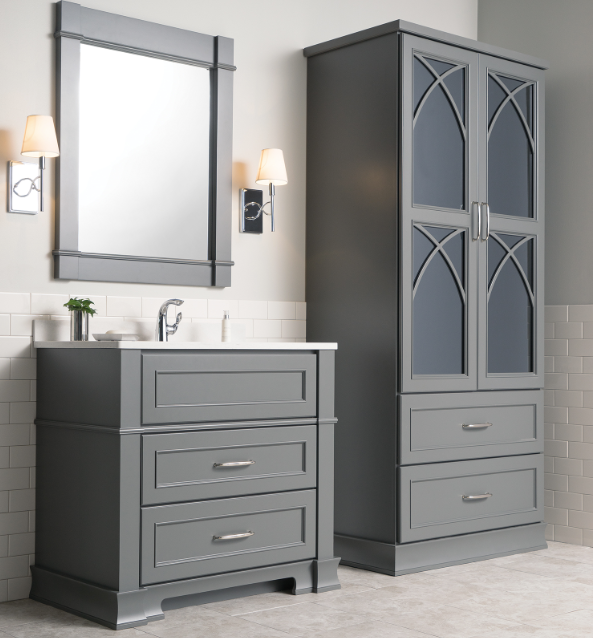 Dura Supreme Cabinetry: Glass & Mirrored Bath Cabinetry