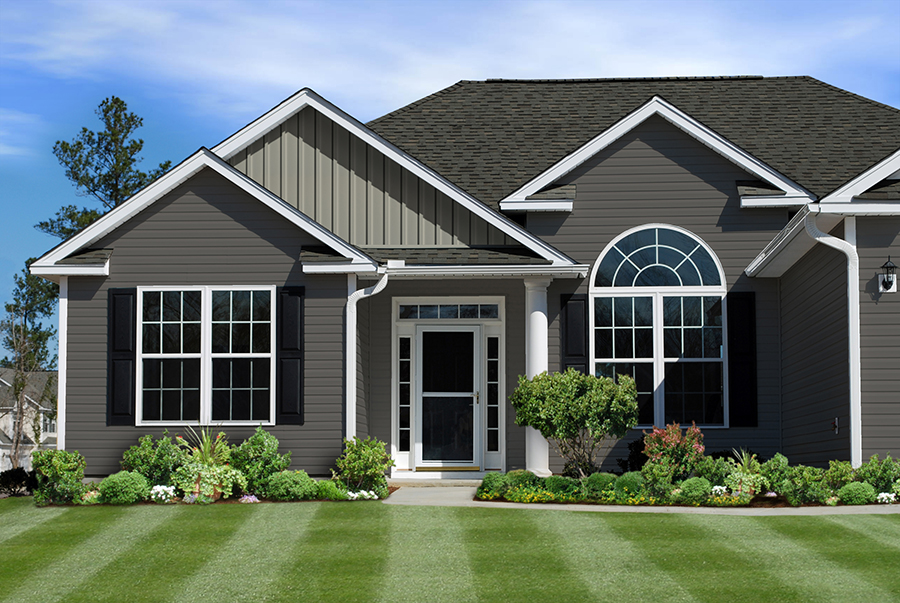 heartland vinyl siding is a heavier gauge premium product bold colors particulaly grays are selling well vertical style