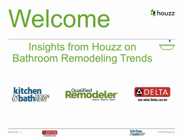 Bathroom Remodeling Trends 2015 webinar: insights from houzz on bathroom remodeling trends