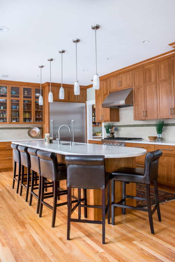 Sarah Steinberg Collaborated With Mainetainers (contractor), Wright Ryan  Millwork (cabinets), Shadu0027s Custom Countertops, Central Furniture U0026  Appliances And ...