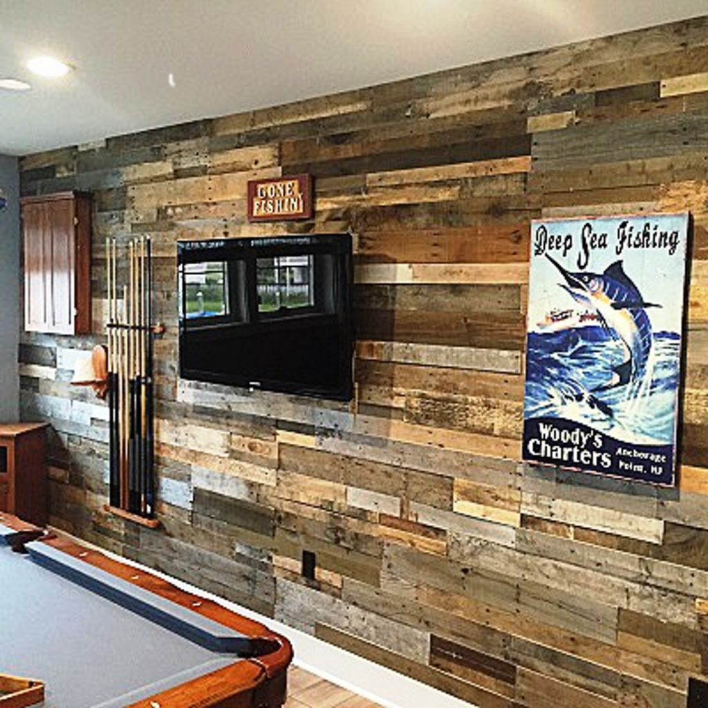 Reclaimed Pallet Boards, Barn Wood, Recycled Flooring Become Wall Panels |  For Residential Pro
