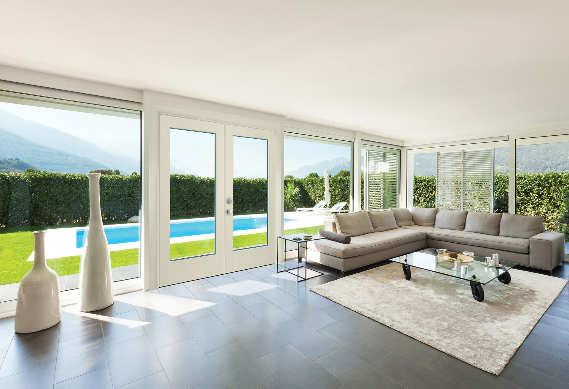 Vistagrande flush glazed exterior door for residential pro for Flush exterior door