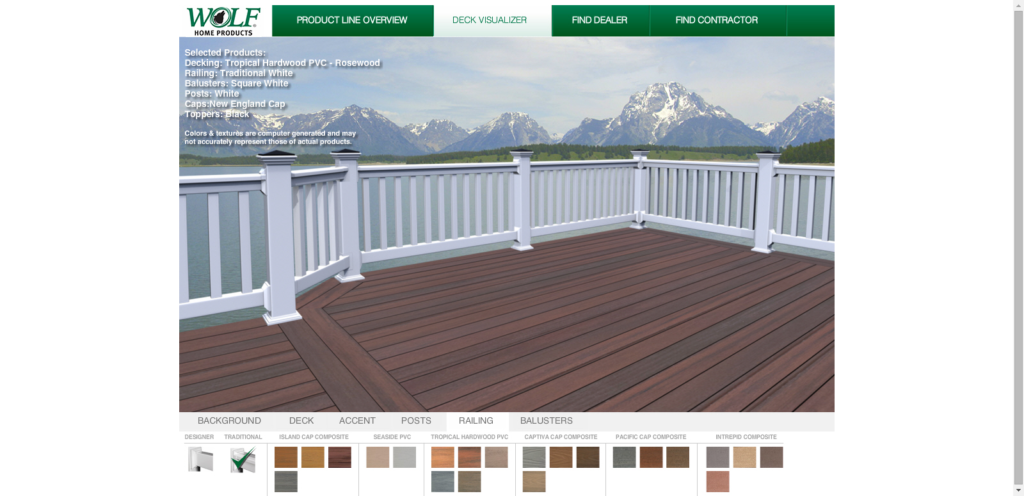 Web Based Deck Design Tool For Residential Pro
