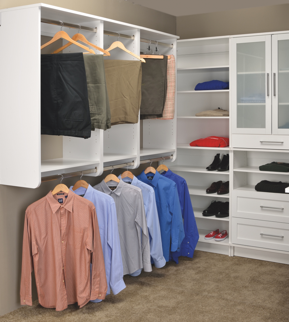 White shaker closet cabinets for residential pros for Woodtrac closets