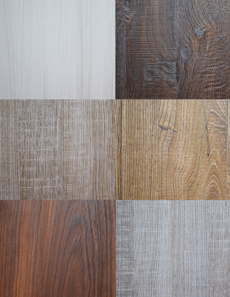 Cabinetry With Textured Laminate Panels