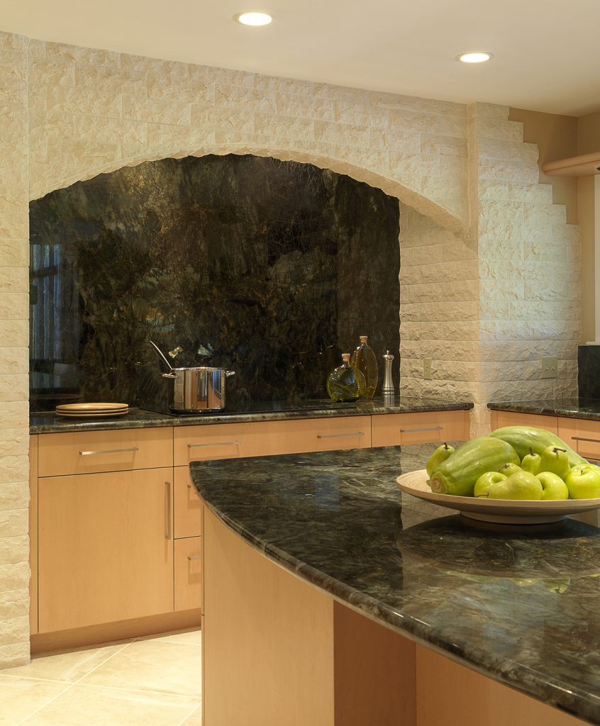 Kenneth Henryu0027s Clients Were So In Love With Labradorite Granite That They  Designed Their Kitchen Around It. Henry Balanced The Granite With Light  Maple ...