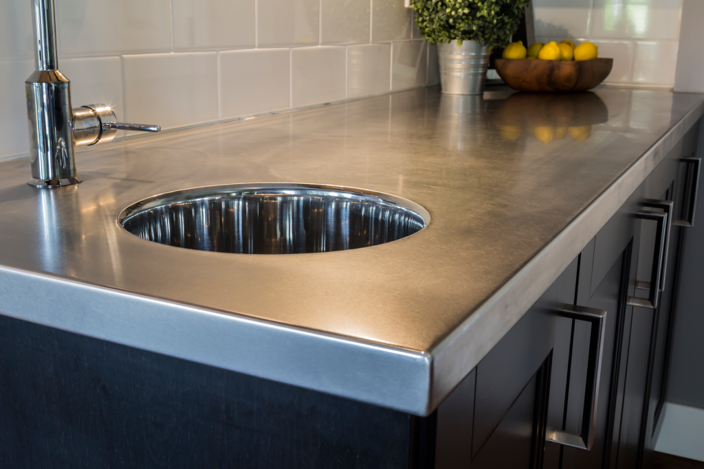 Merveilleux Stainless Steel Bar Top