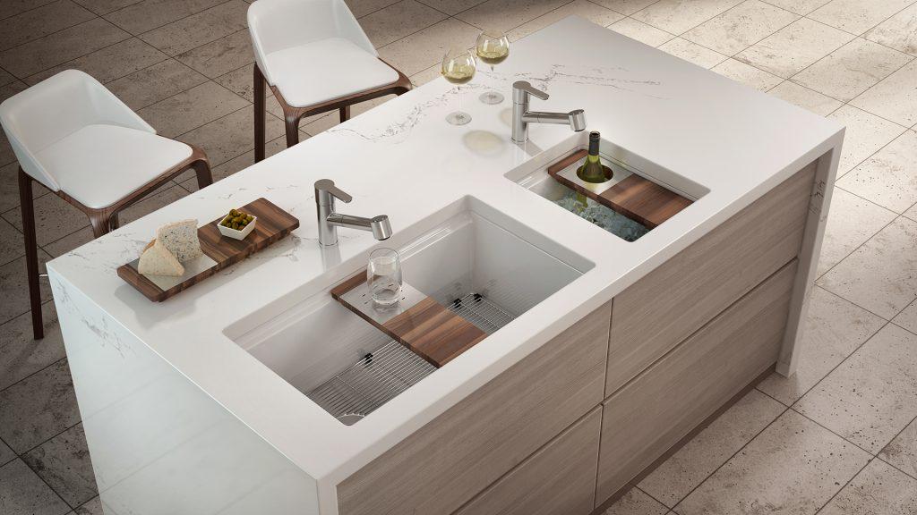 Bathroom Sink Zone entertaining in the kitchen and beyond | kitchen bath design