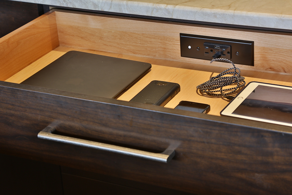 In Drawer Charging Outlets For Residential Pros