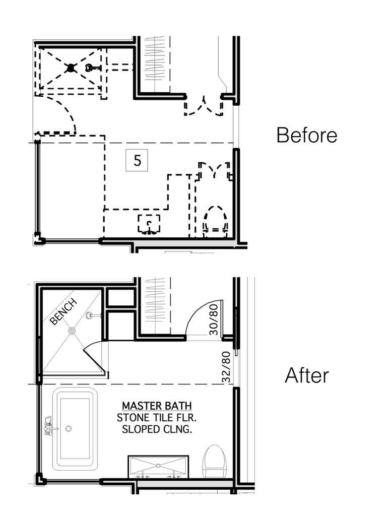 design bathroom floor plan. Cara Albertson and Randy Stringer  RRS Design Build Bathroom Remodel on a Timeline Qualified Remodeler