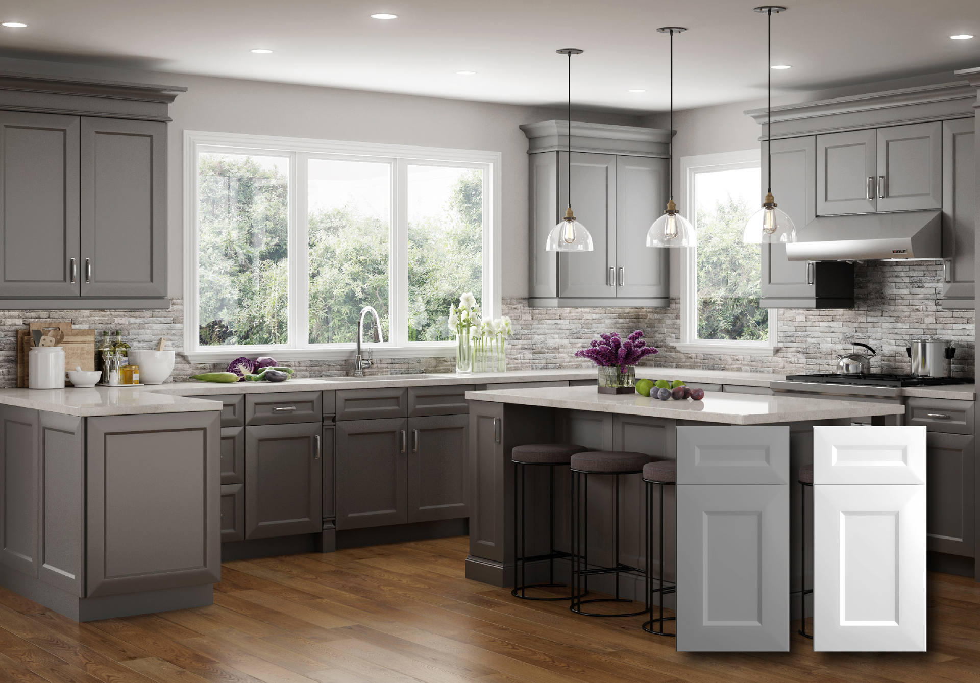 Contemporary kitchen cabinets for residential pros for White kitchen cabinet set