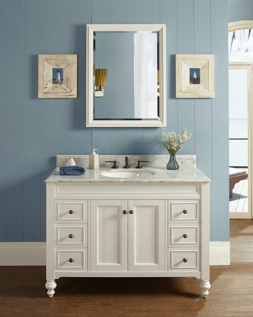 Cottage style vanity for residential pros Fairmont designs bathroom vanity cottage