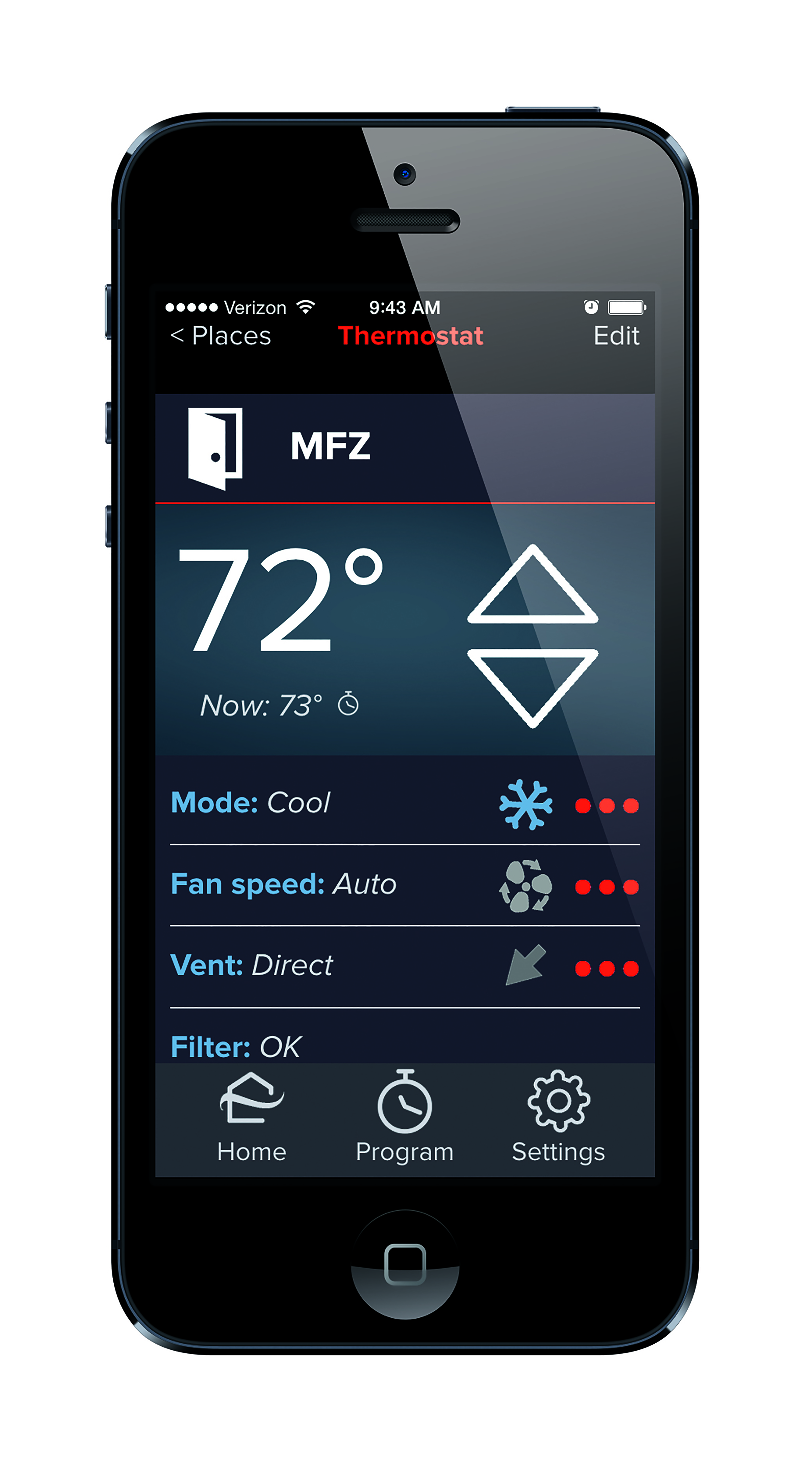 app interface pairing provides remote access to indoor