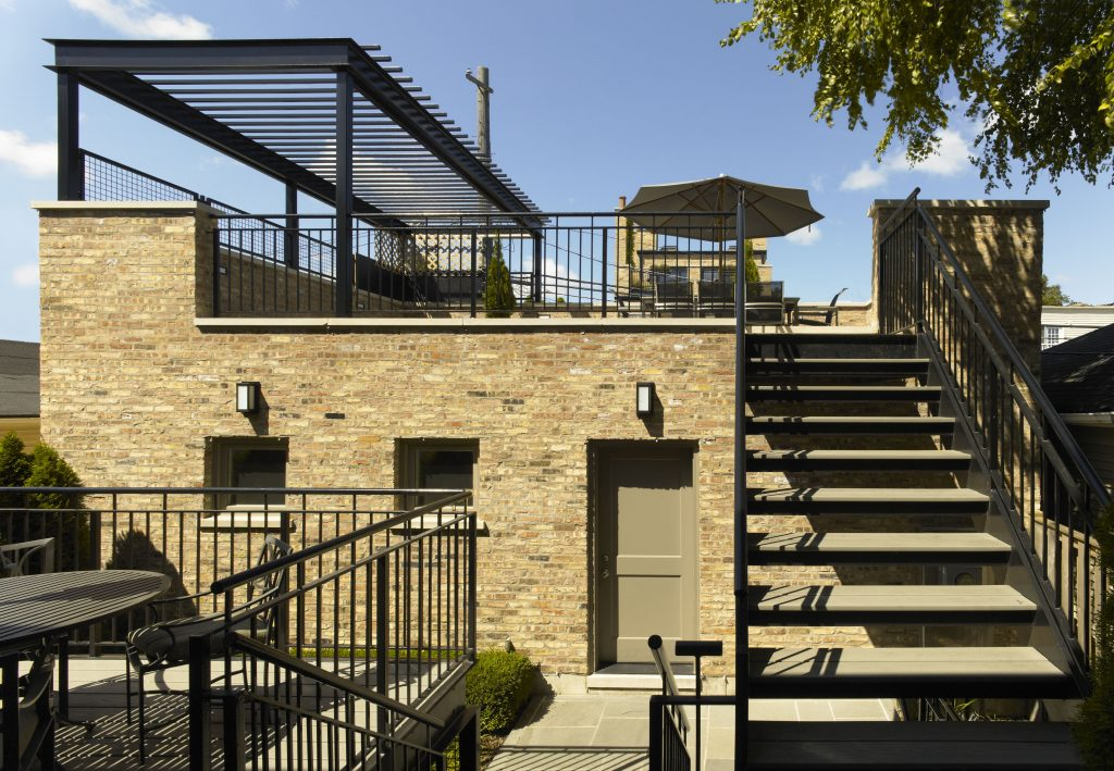 Exceptionnel A Three Car Garage With A Roof Deck Further The Outdoor Living Space Of The  Chicago Conversion And Addition Project Completed By ...