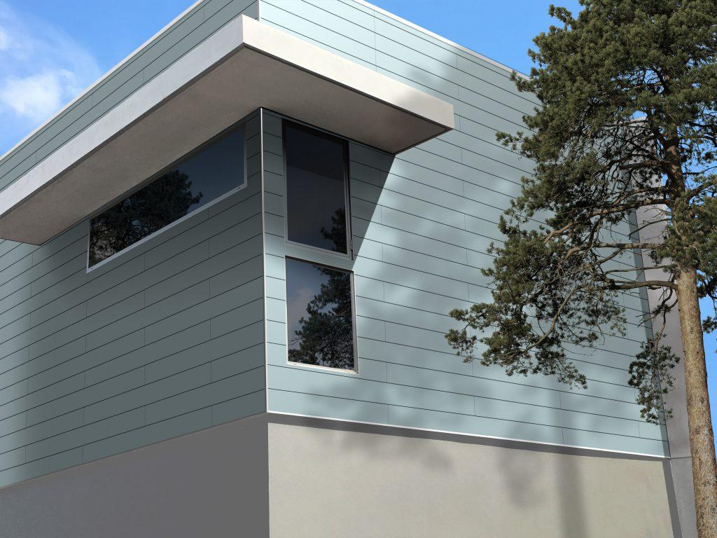 Contemporary siding installs vertically or horizontally for Modern house siding solutions