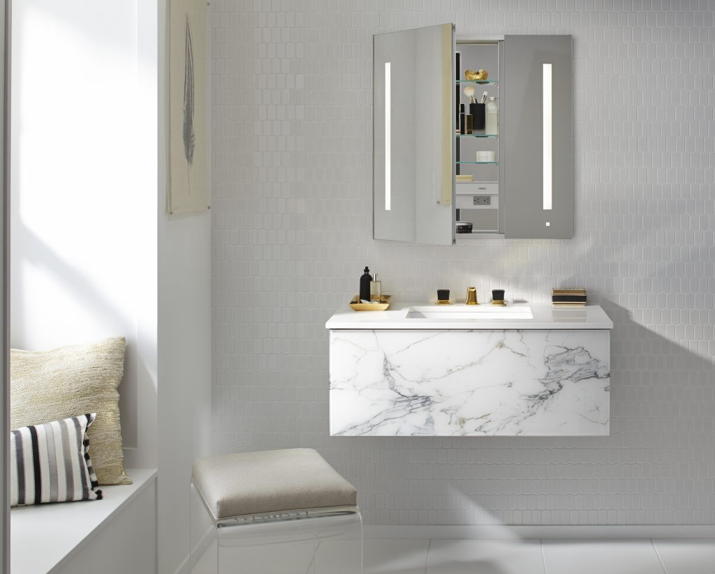 Mirrors, Medicine Cabinets With Lighting, Speakers, Outlets