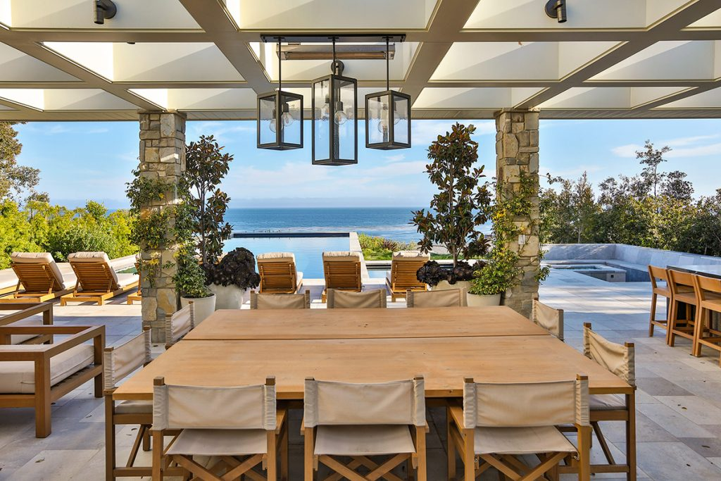Stunning Water Views Provide The Inspiration For This Outdoor Kitchen,  Designed By Architect Doug Burdge, Who Created An Open Air Pavilion With A  Fireplace ...