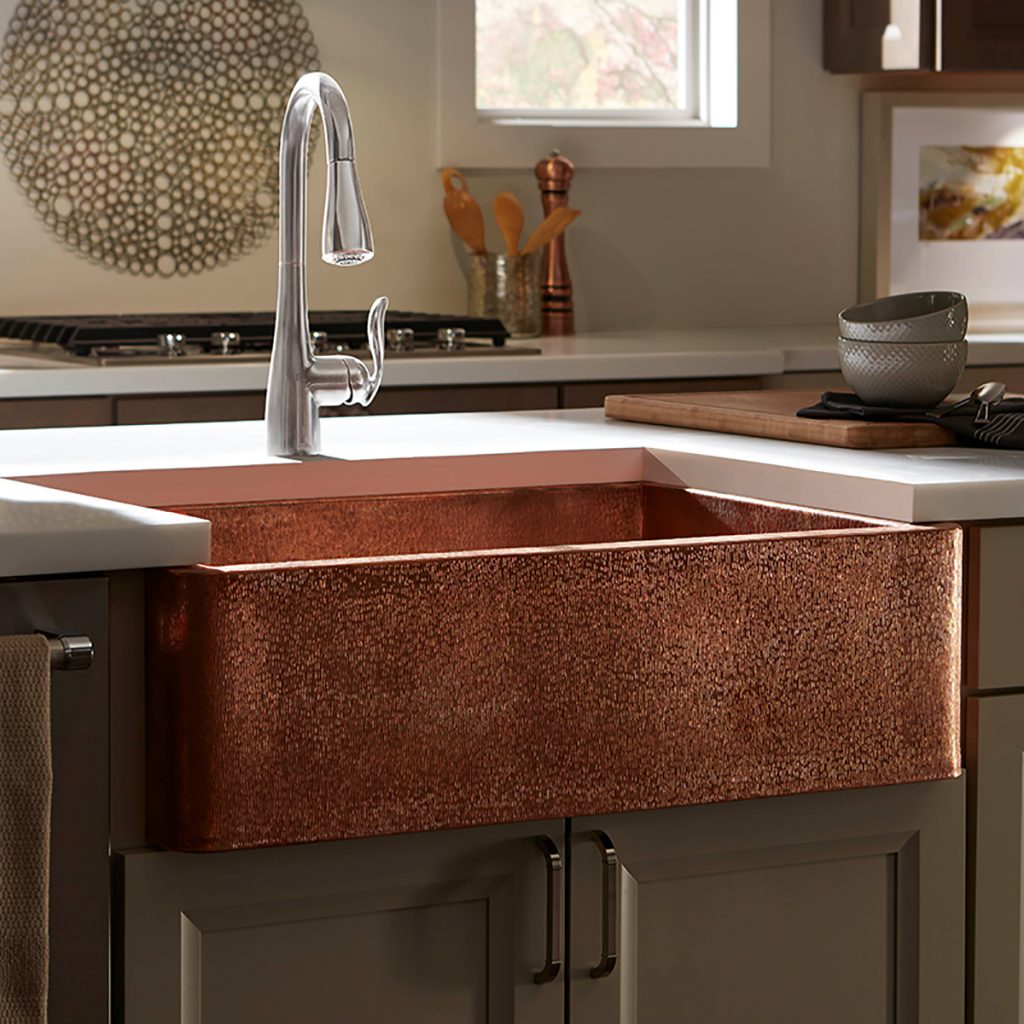 Attrayant The Gari Farmhouse Sink From Thompson Traders Is Finished In Handcrafted  Rose Gold. Each Stroke Of The Craftsmanu0027s Hammer Yields A Unique Piece Of  Art ...