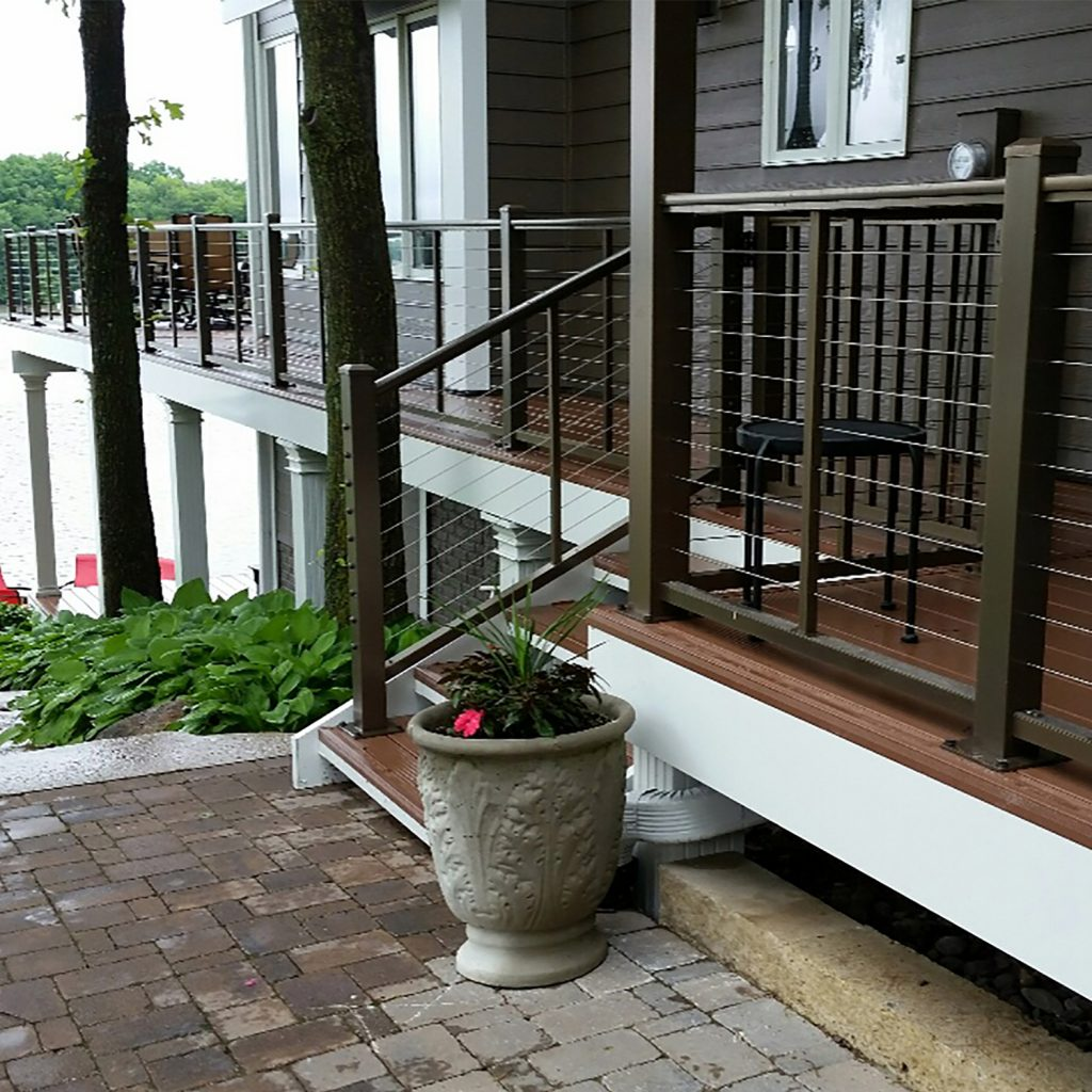 Cable railing system provides safety unobstructed views