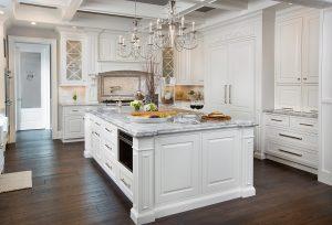 White Kitchen Littlefield making a statement | kitchen bath design