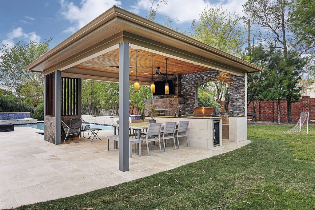covered outdoor kitchen structures backyard design pool the rise of detached structures remodeling industry news