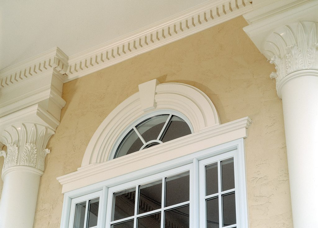 Moulding creates distinct classic looks remodeling for Exterior keystone molding
