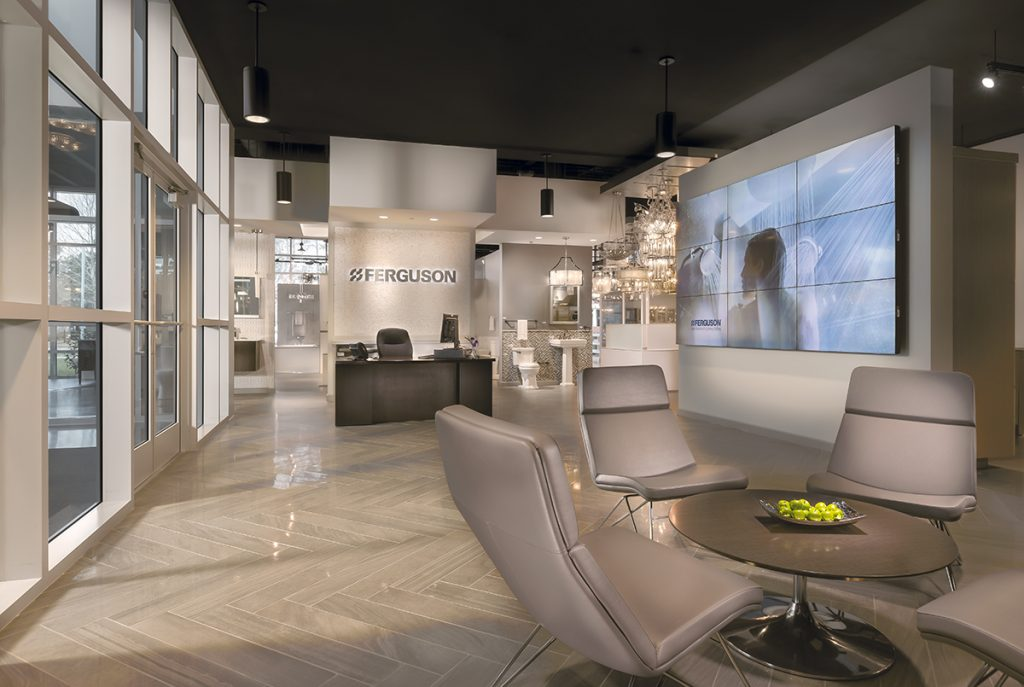 Photos: Ferguson Bath, Kitchen U0026 Lighting Gallery Visitors Who Enter The  Showroom Are Greeted By A Giant Flat Screen TV In The Reception Area, ...