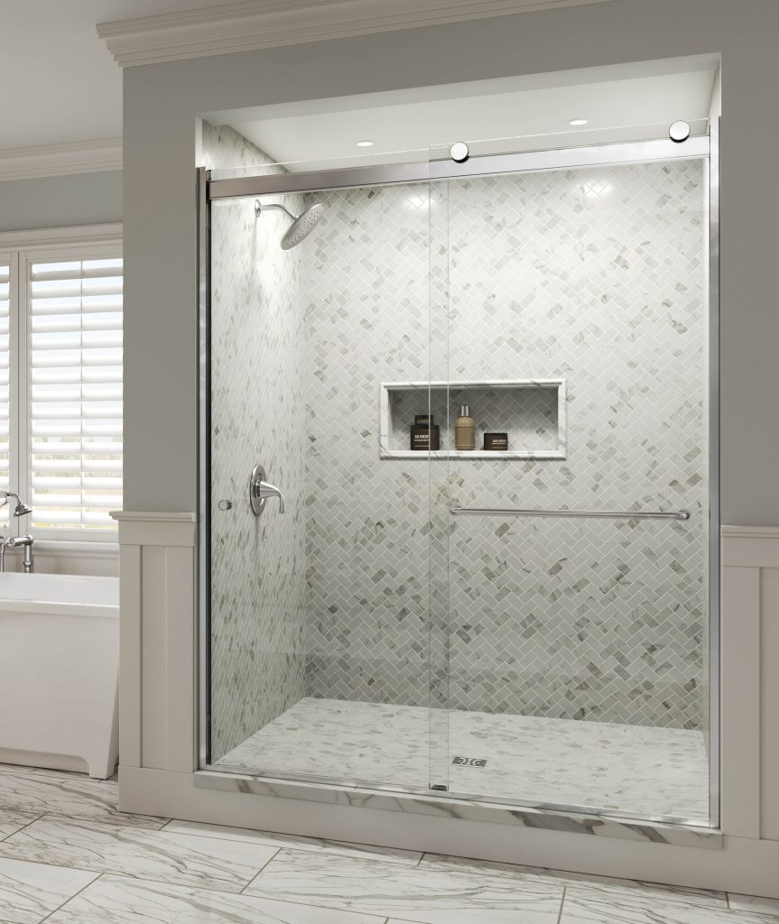 Rotolo Bypass Rolling Shower Doors For Residential Pros