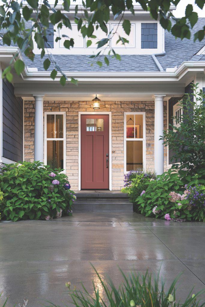 Fiberglass Entry Door Receives Transitional Update