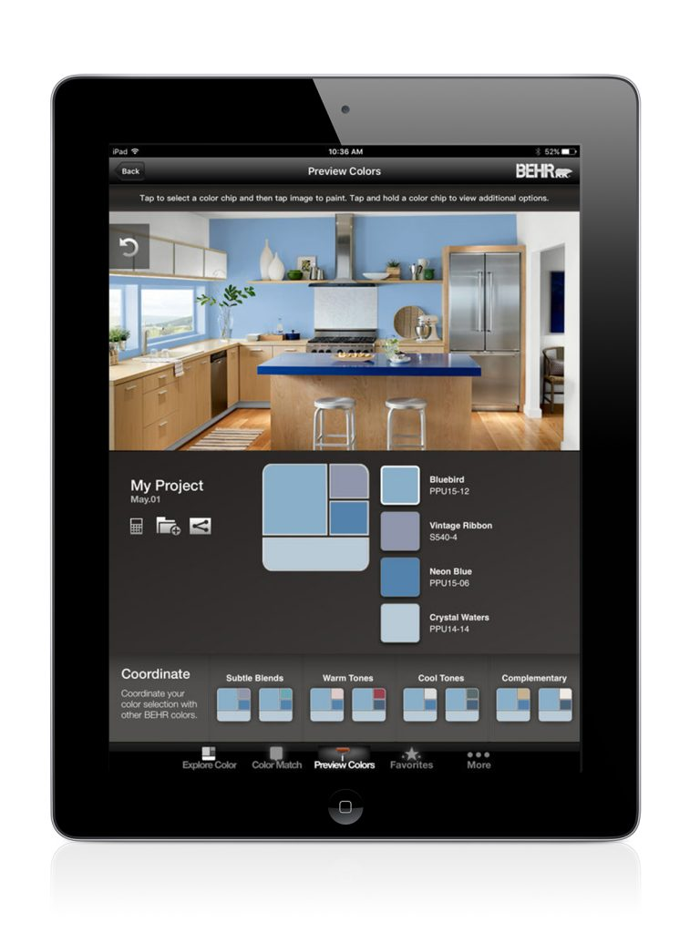 What 39 S App Colorsmart By Behr Mobile Kitchen Bath Design