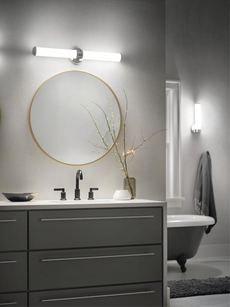 Bathroom Lighting The Range bath, vanity lighting in range of sizes, styles, finishes