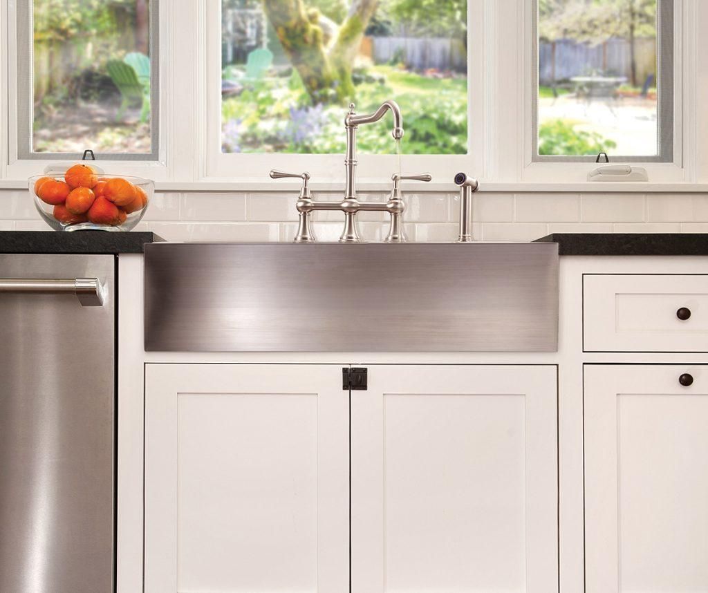Kitchen sink front view