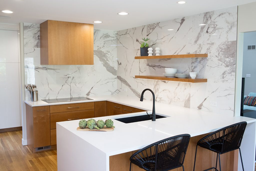 Photo: Courtesy Of Advance Design Studio, A SEN Design Member Company.  Modern, Induction, Quartz And Large Format Tile Are Strong Kitchen Trends.  SHOW ...