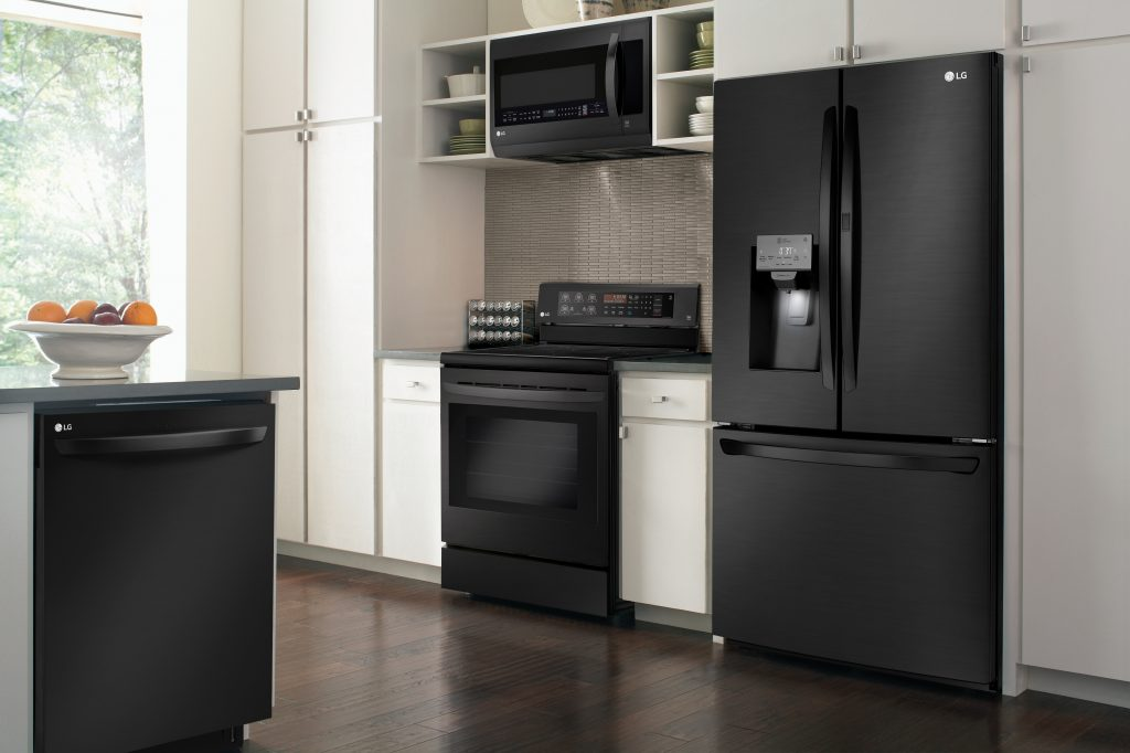 Matte Black Stainless Appliances Kitchen Bath Design