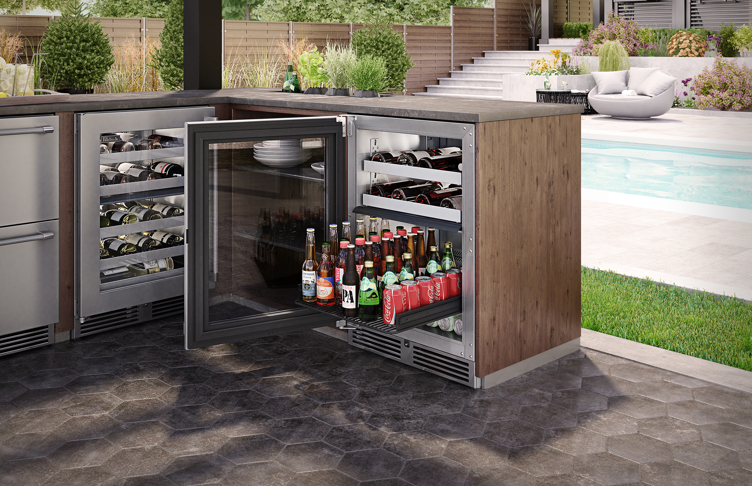 Outdoor Dual-Zone Refrigerator | For Residential Pros