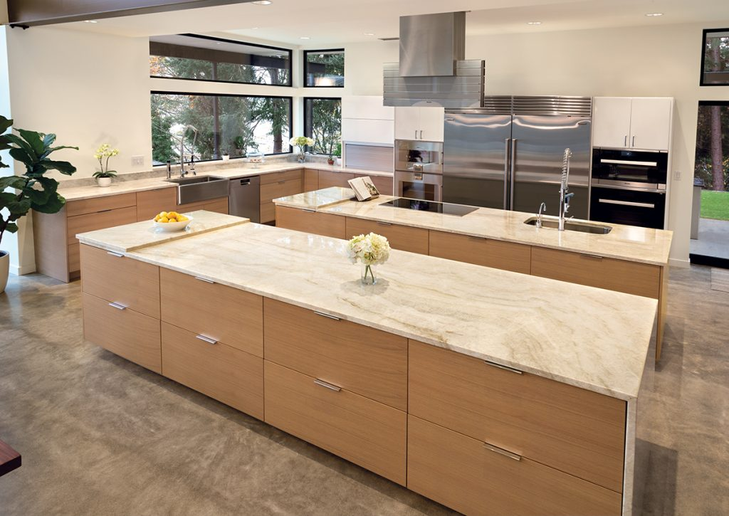 Incroyable This Contemporary Kitchen Provides Plenty Of Punch With The Incorporation  Of Three Islands And Dramatic Light Fixtures, Yet Provides The Ideal  Neutral ...