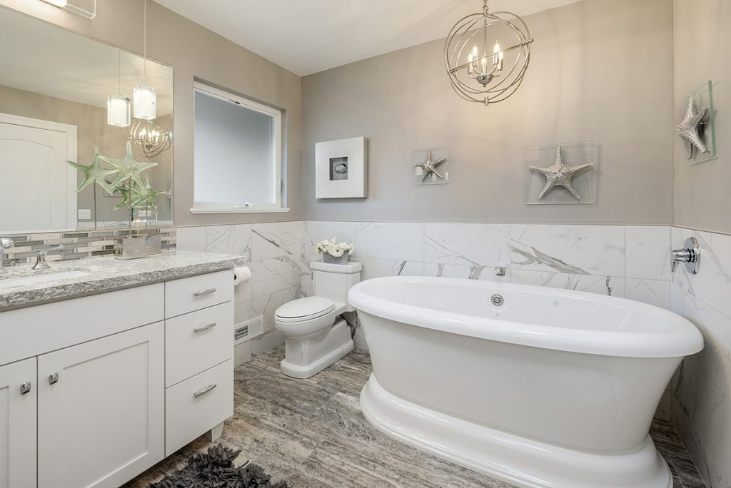 Busy Bath Transforms into Calming Oasis   Kitchen & Bath Design News
