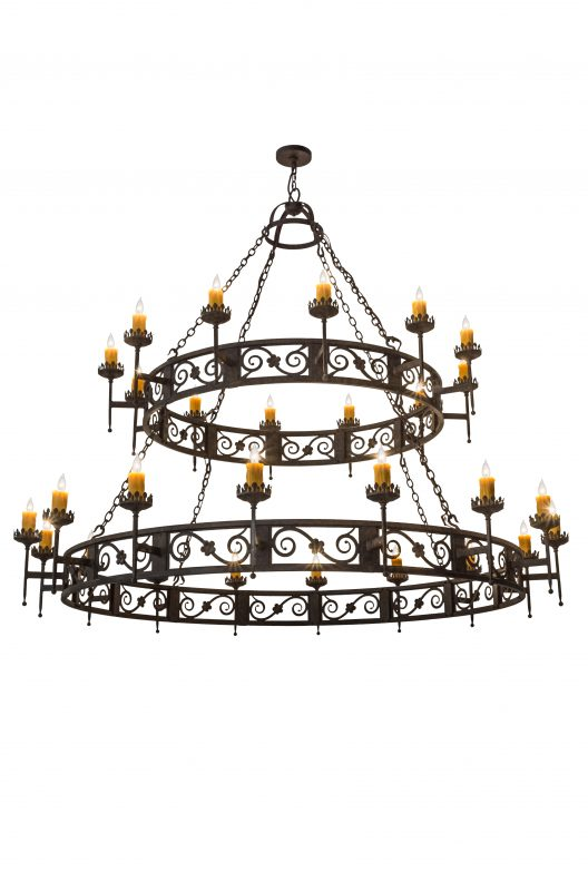 Two-tier chandelier makes a statement