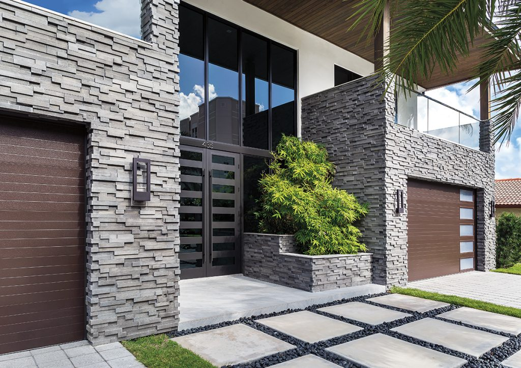 Raise the profile of manufactured stone veneer for Stone veneer house pictures